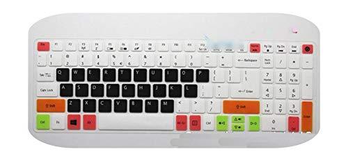 for Acer 15 Inch Laptop Keyboard Cover for Acer Aspire E 15 E5 575 E5 576G E5 574G Es15 Es1 572 / Aspire E 17 E5 772G-Candyblack-