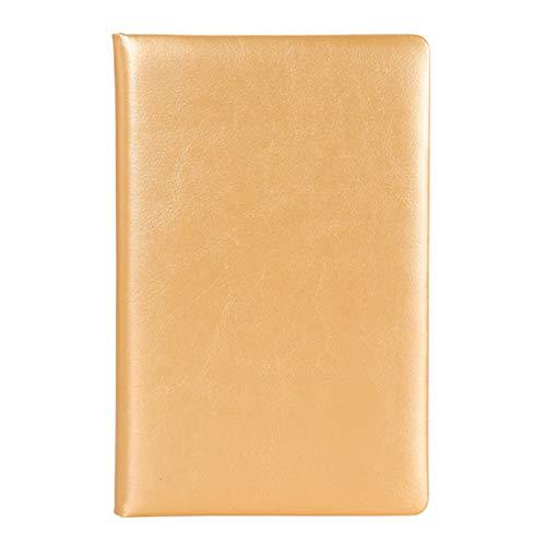 geshiglobal A5 Notizbuch, Kunstleder Schüler Notizbuch Tagebuch Notizblock Reiseschule Briefpapier, Verschiedene Farben KhakiNone