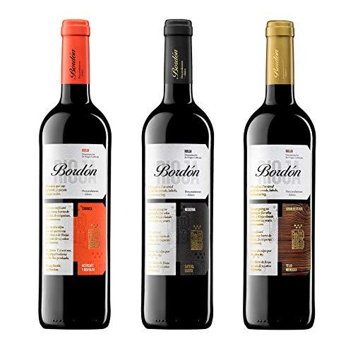 Bordón Vinos Tintos D.O.C Rioja (3 Botellas) - 1 Bordón Crianza + 1 Bordón Reserva + 1 Bordón Gran Reserva