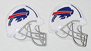 """LOT of (2) New NFL Buffalo Bills Embroidered Helmets Patches 3 1/2"""" X 3"""""""