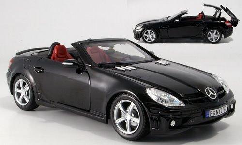 Mercedes SLK 55 AMG (R 171), schwarz, Modellauto, Fertigmodell, Motormax 1:18