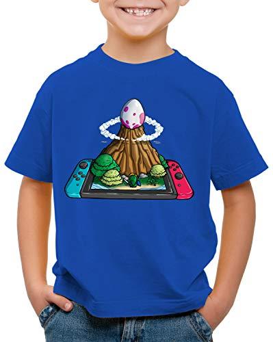 style3 Uovo di Pesce Vento Switch T-Shirt per Bambini e Ragazzi Link Principessa Awakening, Colore:Blu, Dimensione:152