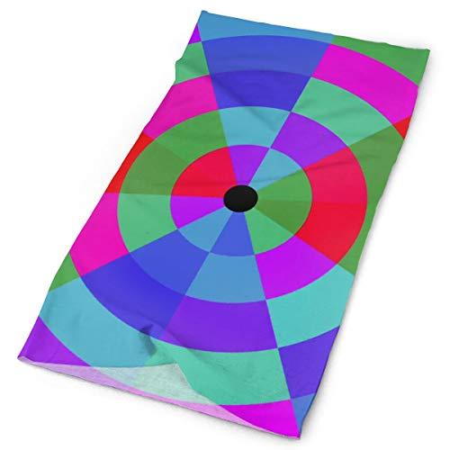 Pengyong - Sciarpa Rotante Circolare concentrica, Colorata, Unisex, alla Moda, ad Asciugatura Rapida, in Microfibra, Sciarpa Magica per Collo, Sciarpa con Cappuccio e Manico Super Morbido