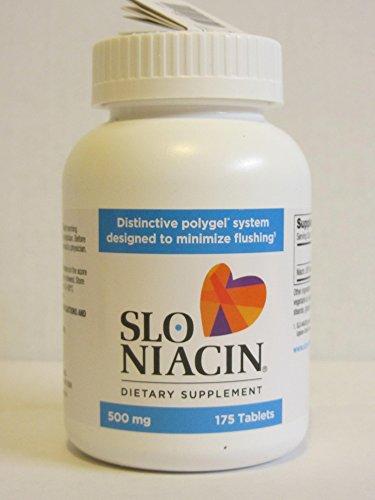 Slo Niacin 500mg 2 Packs each of 175 Tablets
