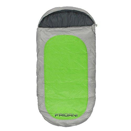 Fridani Kinderschlafsack PG 180x90cm XXL Deckenschlafsack -12°C Grün warm wasserabweisend waschbar