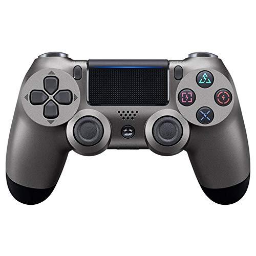 Controlador Bluetooth Inalámbrico para Playstation 4, Mango De PS4 De Doble Vibración De Seis Ejes con Pantalla Táctil,Steel Black