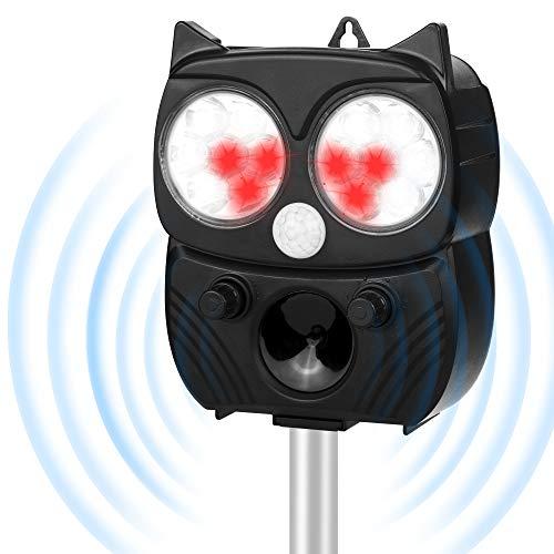 Vivibel – ahuyentador de gatos, 5 modos, alto rendimiento, panel solar, defensa automática, resistente al agua, ajustable para gatos, pájaros, mapaches, perros, platillos, ratas, Color: 6