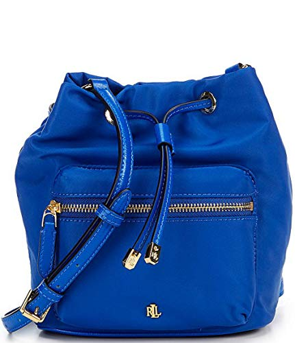 LAUREN Ralph Lauren Dryden Drawstring Soft Nylon Debby II Mini Masai Blue One Size