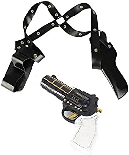 AOLUNO Gun Holsters Suicide Squad Harley Quinn Accessories Gun Holster Halloween Party Supplies (No Gun Toys,FBA Shipping from US)