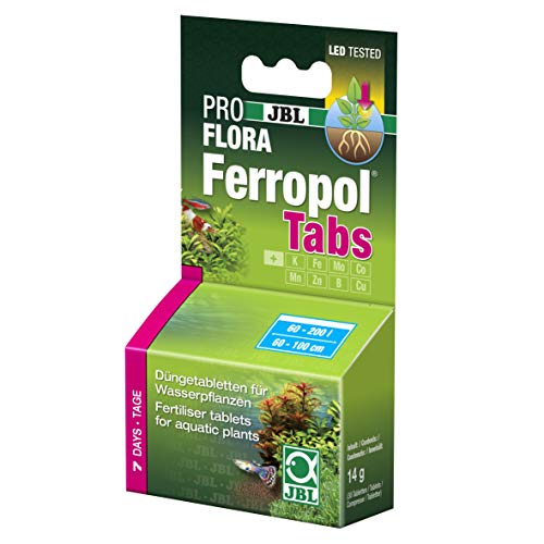 JBL FerropolTabs 2020000, Pflanzendünger für Süßwasser-Aquarien, 30 Tabletten, Reichweite: 750 l