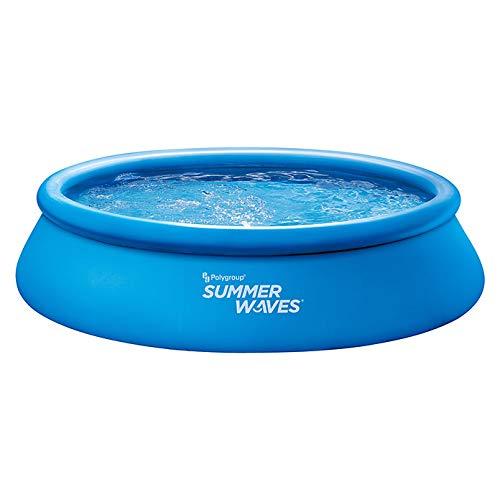 Summer Waves Quick Set Piscina 396 x 84 cm, incluye bomba de filtro, cartucho de filtro y juego de reparación para piscina familiar