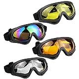 Aoutacc Occhiali da Sci Set, 4Confezione Skate Occhiali Occhiali con Protezione UV 400...