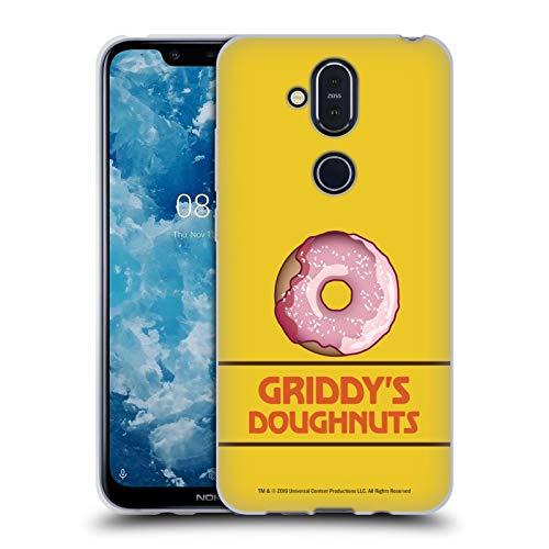 Head Hülle Designs Offizielle The Umbrella Academy Erdbeere Griddy's Doughnuts Soft Gel Handyhülle Hülle Huelle kompatibel mit Nokia 8.1 / X7