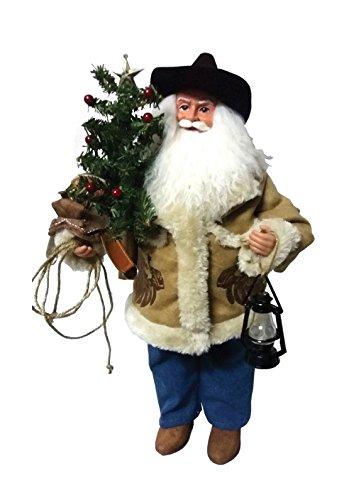 Santa's Workshop 6795 Cowboy Santa Figurine, 18', Multicolored