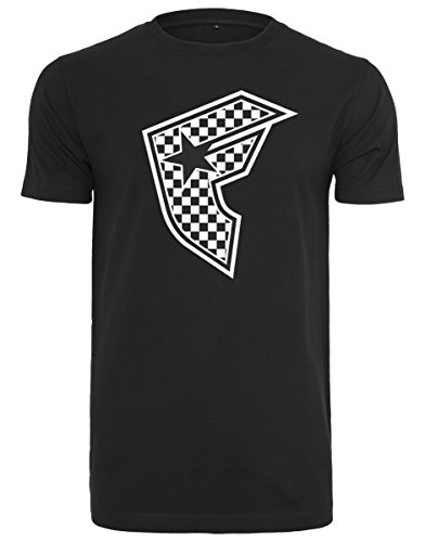 Famous Stars and Straps Herren Checker Badge Tee T-Shirt, Black, M