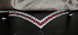 Equipride Bling diamante cristallo forma curva Briglia Con Redini Viola