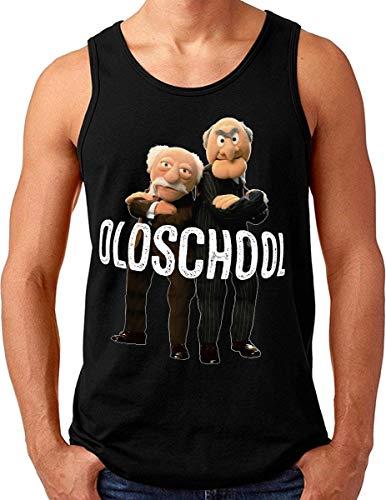 OM3® - Old-School - Tank Top Shirt - Herren - Waldorf and Statler Sons of Ironists - Schwarz, L
