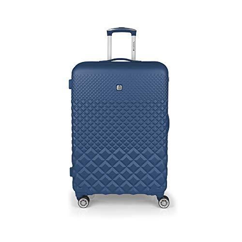 Gabol - Oporto   Maleta de Viaje Grande Dura de 52 x 77 x 30 cm con Capacidad para 94 L de Color Azul
