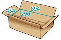 In The Box ダンボール 段ボール「衣類用H(894×454×高さ290mm) 10枚」茶色