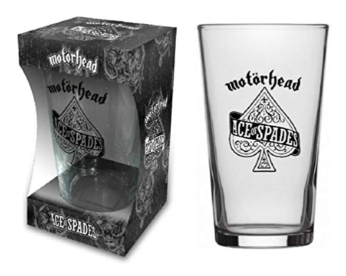 For-collectors-only Motörhead Glas Ace of Spades - Vaso de cerveza (tamaño XL), diseño con logotipo de Inglaterra