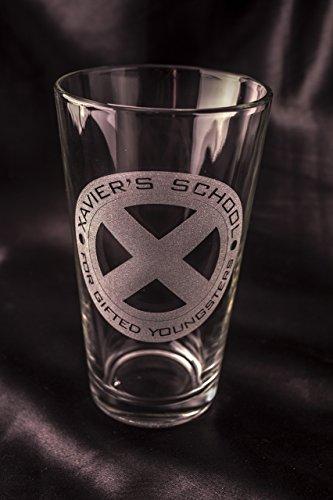 Xmen Pint Glass - Xavier's School