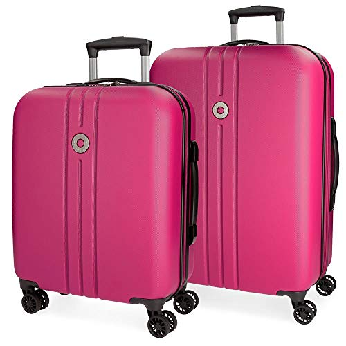 Riga Luggage Set, 70 cm, 108 liters, Pink (Rosa)