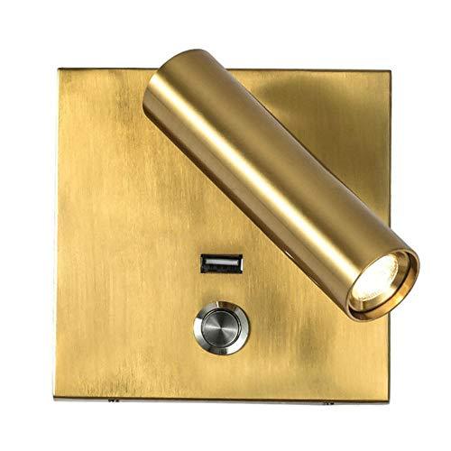 LED-wandlamp met schakelaar voor lichtschakelaar, USB-lamp voor nachtkastje voor slaapkamer, binnenverlichting 100 – 240 V 3 W