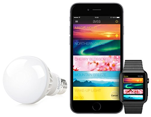 Elgato Avea Bulb, Dynamic Mood Light - for iPhone, iPad, Apple Watch or Android-Smartphone, Bluetooth Low Energy, 7 W LED, E27