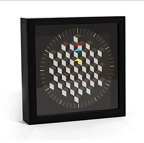 JHLP klok roterende plaat Smart Tafel Mesa de Som modern design zeshoekig grafische minimalistische wandklok