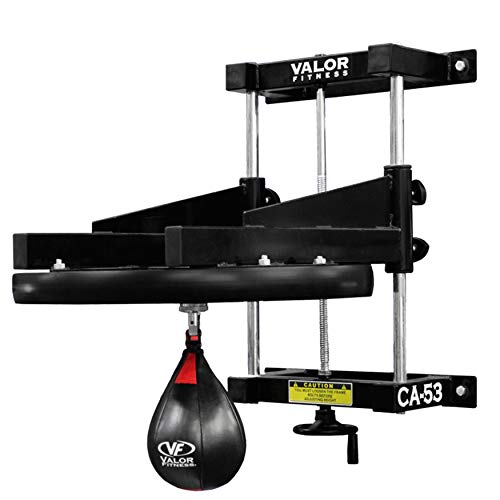 Valor Fitness Adjustable Boxing Speed Bag Platform with Wheel Crank