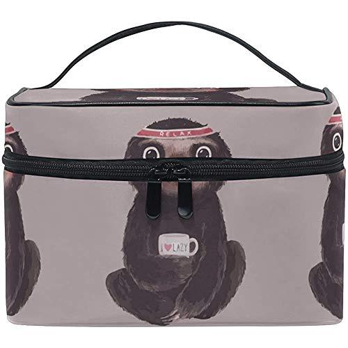 Trousse à Maquillage Aquarelle Slo_THS Voyage Sacs à cosmétiques Organisateur Train Case Trousse de Toilette Make Up Pouch