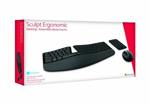 Microsoft Sculpt Ergonomic Desktop USB Port Keyboard and Mouse Combo (L5V-00002)