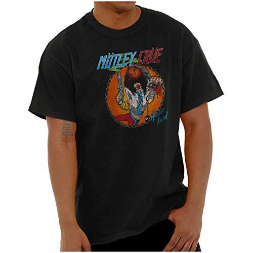 Brisco Brands Allister Fiend Motley Crue Mascot 80s Logo T Shirt Tee Black