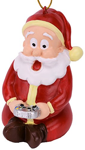 Tree Buddees Gamer Santa Claus Video Gaming Christmas Ornament