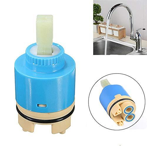 Senrise - Válvula de cartucho de disco cerámico para grifos monomando de baño o grifos mezcladores de cocina, azul