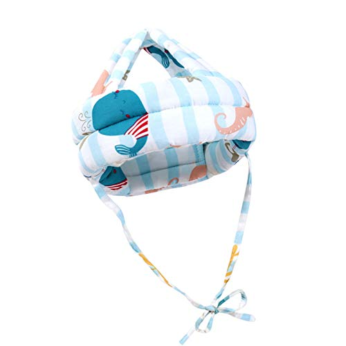 Baby Helm Kleinkind Schutzhut Kopfschutz Anti Kollisions Hut Schutzhelm, Kopfschutzmütze Babyhelm Helmmütze Kopfschutzmütze Gegen Stöße Kleinkind Beim Lauflerner Safety Helme (Blau)