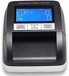 Counterfeit Money Detector | Automatic Fake Currency Detector | Powerful and Easy to Use with Compact Design | Portable and Suitable for Multi -Banknote | Four Way Scan