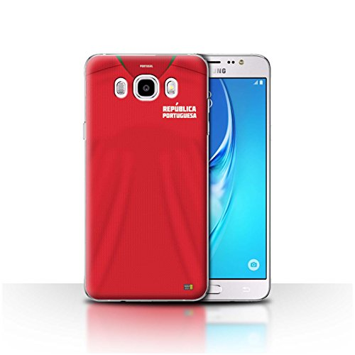Stuff4® Hülle/Case für Samsung Galaxy J5 2016 / Portugal/Portugiesisch Muster/Weltmeisterschaft 2018 Fußball Trikot Kollektion