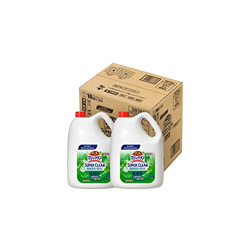 【ケース販売】バスマジックリン SUPER CLEAN 業務用 除菌消臭+防カビ グリーンハーブの香り 2本パック 4.5L×2(花王プロフェッショナルシリーズ)