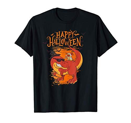 Felice Halloween Dinosaur T-Rex Costume da dinosauro Maglietta