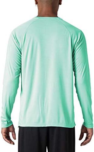 MAGCOMSEN Men's Sun Protection T-Shirt UPF 50+ UV Long Sleeve Moisture Wicking Performance Athletic Shirt
