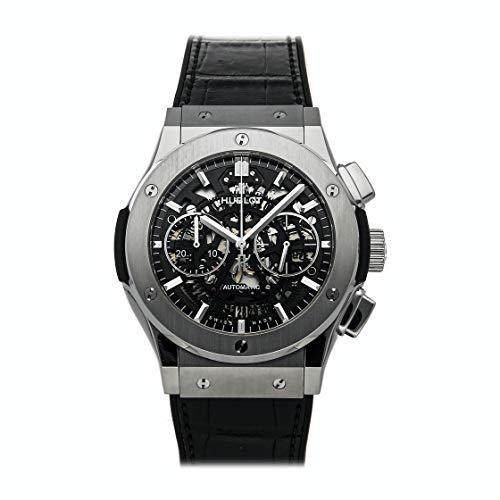 Hublot Classic Fusion - Reloj (Reloj de pulsera, Masculino, Titanio, Negro, Titanio, Cuero, Caucho, Negro)