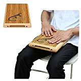 GECKO Travel Cajon,Cajon Box Drum Percussion Instrument Zebra Wood with Internal Guitar Strings Compact Size Portable Cajon