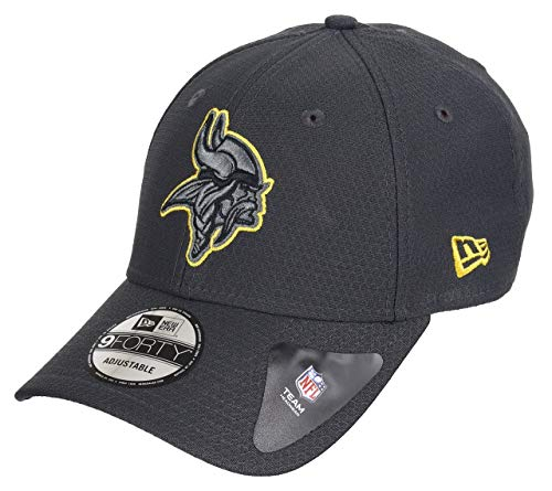 New Era Minnesota Vikings New Era 9forty Adjustable Cap Nfl Hex Era Graphite - One-Size