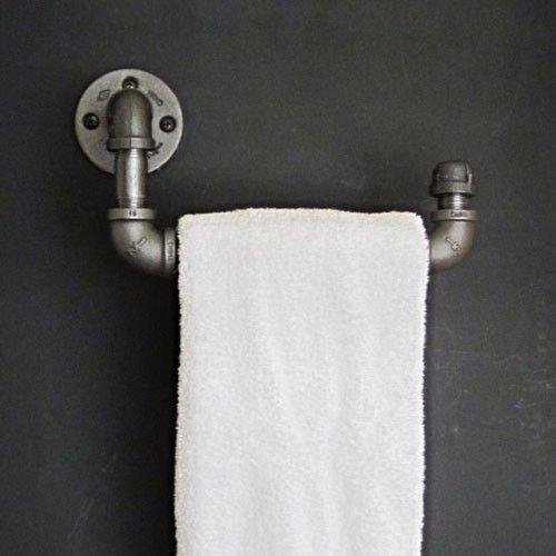 MBYW moderne minimalistische hoge dragende handdoek rek badkamer handdoekenrek Zwarte slang handdoekrek gemaakt van oude smeedijzeren kapstok creatieve industriële stijl rek Geschikt voor badkamer