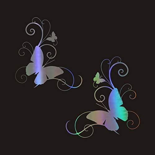 CSCH Pegatinas Coche Etiqueta engomada del Coche 18.2CM * 20CM Mariposa Personalidad...
