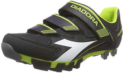Diadora Trivex II - Zapatos de Bicicleta de Montaña Unisex Adulto, Color Negro, Talla 43 EU