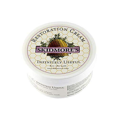 Skidmore's Restoration Cream | Genuine Leather and Wood Restorer, Softener, and Conditioner | 100% Natural Non-Toxic Formula | Kit Will Restore and Repair Dry Leather and Wood Products in the Home