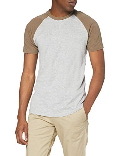 Urban Classics Raglan Contrast tee Camiseta, Multicolor (Gre