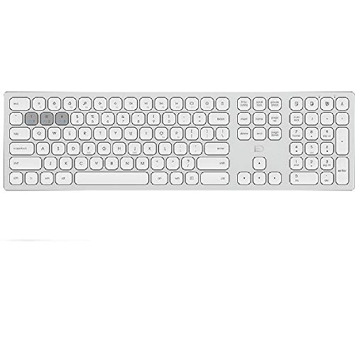 WANGXB Bluetooth Tastatur,Funk Tastatur.Deutsches Layout,Kabellose Tastatur für Smartphone,und,Tablets,PC,Android,MacOS,Windows,Ultradünn leise.